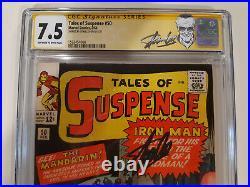 Tales of Suspense 50 CGC 7.5 SS S. Lee 1st Mandarin CCS looks 8.5 9.0 +