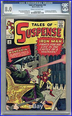 Tales of Suspense #50 CGC 8.0 1964 1292104004 1st app. Mandarin