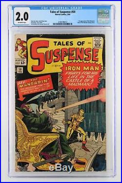 Tales of Suspense #50 Marvel 1964 CGC 2.0 1st Appearance of the Mandarin. Tale