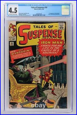 Tales of Suspense #50 Marvel 1964 CGC 4.5 1st Appearance of the Mandarin. Tale