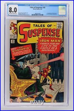 Tales of Suspense #50 Marvel 1964 CGC 8.0 1st Appearance of the Mandarin