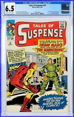 Tales of Suspense #51 (1964) CGC 6.5, Mint Case! 1st app of SCARECROW