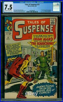 Tales of Suspense 51 CGC 7.5 OWithW Pages
