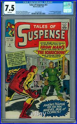 Tales of Suspense #51 CGC 7.5 (W) 1st Appearance of the Scarecrow