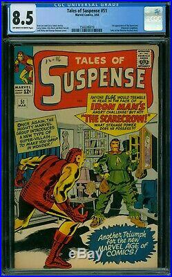 Tales of Suspense 51 CGC 8.5 OWithW Pages