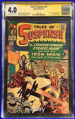 Tales of Suspense #52 1st App. Black Widow CGC 4.0 SS Signed Stan Lee