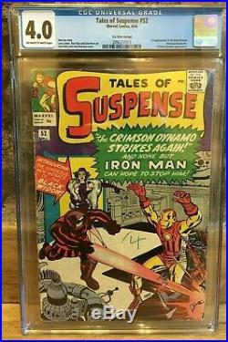 Tales of Suspense #52 1st Appearance of Black Widow 1964 UK PRICE VAR CGC 4.0