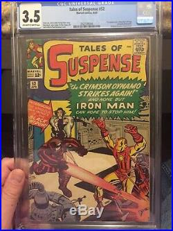 Tales of Suspense #52/1st Black WidowithCGC Universal 3.5 OW-W