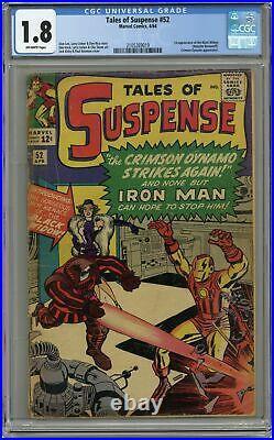 Tales of Suspense #52 CGC 1.8 1964 2105269019 1st app. Black Widow