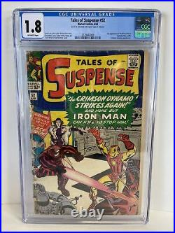 Tales of Suspense #52 CGC 1.8 OWithW Marvel 1964 Comic Black Widow 1st appearance