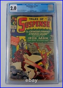 Tales of Suspense #52 CGC 2.0 OWithW Marvel 1964 Comic Black Widow 1st appearance