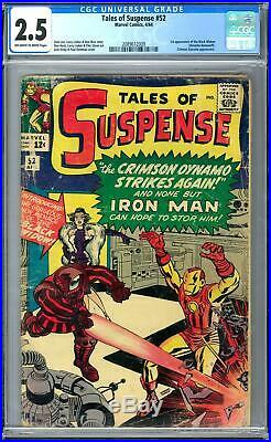 Tales of Suspense #52 CGC 2.5 (OW-W) 1st Appearance of the Black Widow