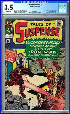 Tales of Suspense #52 CGC 3.5 (OW) 1st Appearance of Black Widow