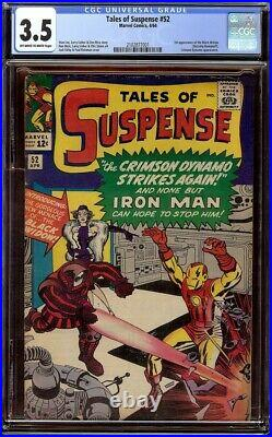 Tales of Suspense # 52 CGC 3.5 OWithW (Marvel, 1964) 1st appearance of Black Widow