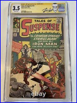 Tales of Suspense #52 CGC 3.5 Signed Stan Lee! First Appearance Black Widow! Hot