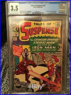 Tales of Suspense #52 CGC 3.5 VG- 1st Appearance Black Widow Movie Coming