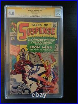 Tales of Suspense #52 CGC 4.0 Signed by Stan Lee 1st App of Black Widow RARE