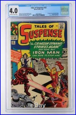 Tales of Suspense #52 CGC 4.0 VG Marvel 1964 1st App of The Black Widow