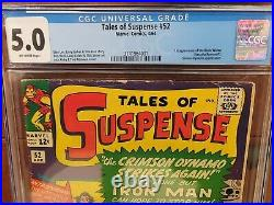 Tales of Suspense #52 CGC 5.0 1st appearance of Black Widow MARVEL NICE