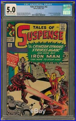 Tales of Suspense #52 CGC 5.0 (C-OW) 1st Black Widow Appearance