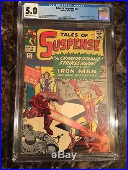 Tales of Suspense #52 CGC 5.0 KEY 1st Black Widow Iron Man! UNPRESSED COPY
