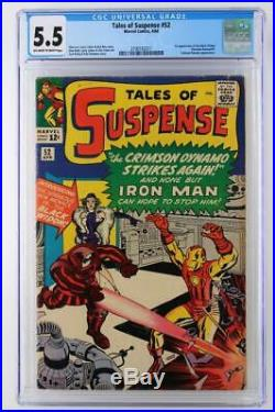Tales of Suspense #52 CGC 5.5 FN- Marvel 1964 1st App Black Widow