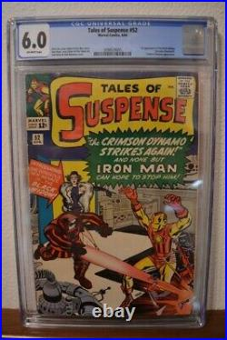 Tales of Suspense #52, CGC 6.0 Blue Label, Off White Pages, 1st Black Widow