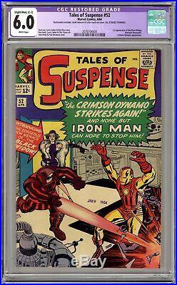 Tales of Suspense #52 CGC 6.0 RESTORED 1964 2076104004 1st app. Black Widow