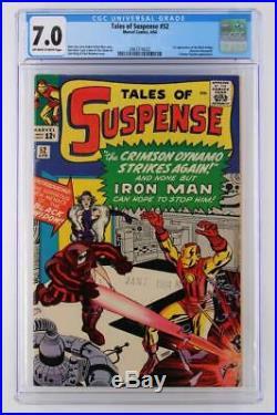Tales of Suspense #52 CGC 7.0 -Marvel 1964- Iron Man 1st App of Black Widow