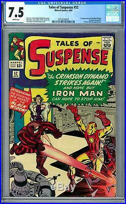 Tales of Suspense #52 CGC 7.5 (W) 1st Appearance of the Black Widow
