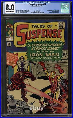 Tales of Suspense #52 CGC 8.0 (OW-W) 1st Appearance of Black Widow