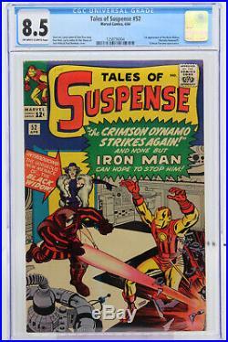 Tales of Suspense # 52 CGC 8.5 1st appearance of Black Widow (Natasha Romanov)