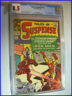 Tales of Suspense #52 CGC 8.5 OWithW 1st app of the Black Widow WOW