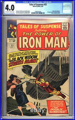 Tales of Suspense #53 CGC 4.0 VG 2nd app of Black Widow, Origin of Watcher 1964
