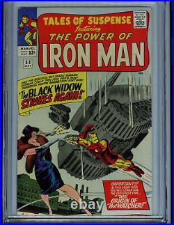 Tales of Suspense #53 CGC 5.5 FN- Marvel Comics 1964 2nd Black Widow Watcher K13