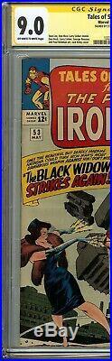 Tales of Suspense #53 CGC 9.0 SS STAN LEE Origin the Watcher 2nd app Black Widow
