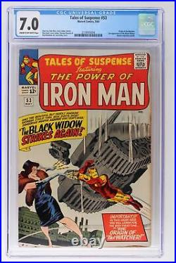Tales of Suspense #53 Marvel 1964 CGC 7.0 Origin of the Watcher. 2nd Appearanc