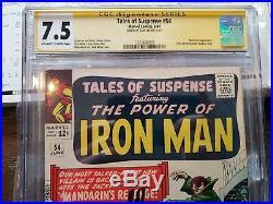 Tales of Suspense 54 CGC 7.5 SS Signed by Stan Lee Mandarin's Revenge