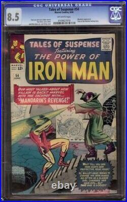 Tales of Suspense # 54 CGC 8.5 Off-White (Marvel, 1964) Mandarin appearance