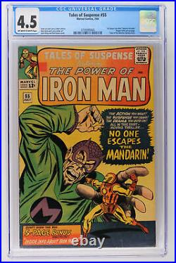 Tales of Suspense #55 Marvel 1964 CGC 4.5 All About Iron Man feature include