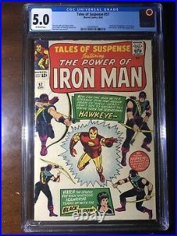 Tales of Suspense #57 (1964) 1st Hawkeye! CGC 5.0 Key