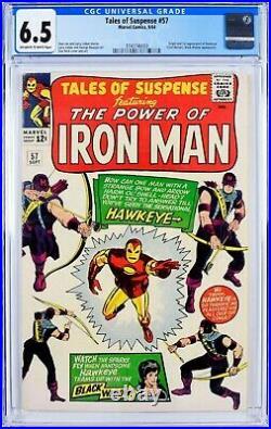 Tales of Suspense #57 (1964) CGC 6.5, Mint Case! Key! 1st app of HAWKEYE
