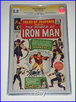 Tales of Suspense 57 (1964) CGC 8.0 1st Hawkeye Appearance, Signed by Stan Lee