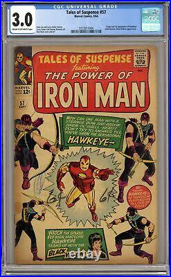 Tales of Suspense #57 CGC 3.0 1964 3715911004 1st app. Hawkeye