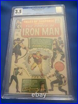 Tales of Suspense #57 CGC 3.5 OWithW 1st Appearance of Hawkeye