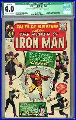 Tales of Suspense #57 CGC 4.0 (C-OW) Origin & 1st App of Hawkeye