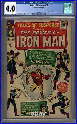 Tales of Suspense #57 CGC 4.0 (OW-W) 1st Appearance of Hawkeye
