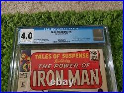 Tales of Suspense #57 CGC 4.0 OWithWH 1964 1st app. Hawkeye Black Widow Appears