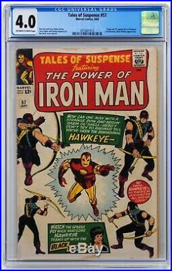 Tales of Suspense # 57 CGC 4.0 Off-White/White Pages 1st Hawkeye appearance