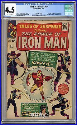 Tales of Suspense #57 CGC 4.5 1964 2070474011 1st app. Hawkeye